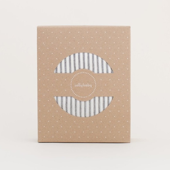 Solly Baby Wrap Natural & Grey Stripe